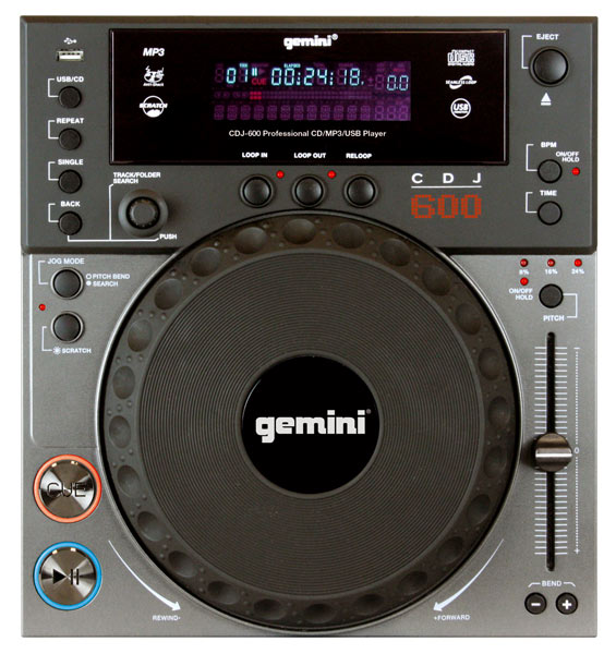 Table-Top Gemini CDJ-600